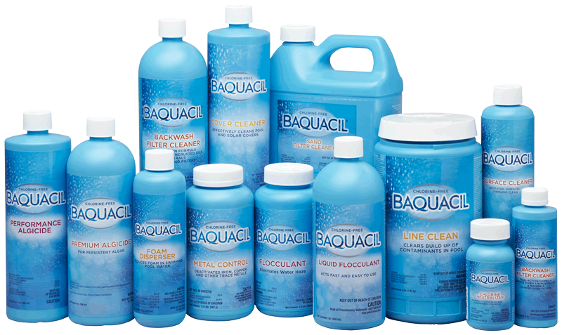 Baquacil pool cleaning chemicals